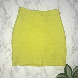 Express Design Studio neon yellow bandage skirt 4